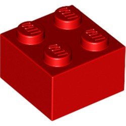 Red Brick 2 x 2 - new
