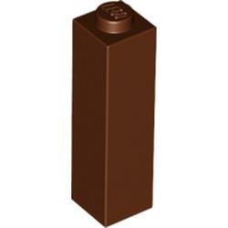 Reddish Brown Brick 1 x 1 x 3 - new