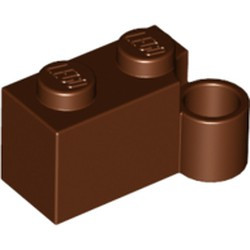 Reddish Brown Hinge Brick 1 x 4 Swivel Base - used