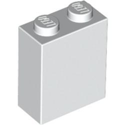 White Brick 1 x 2 x 2 with Inside Stud Holder - new