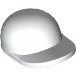 White Minifigure, Headgear Cap - Short Curved Bill