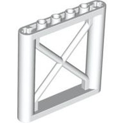 White Support 1 x 6 x 5 Girder Rectangular - used