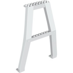 White Support Crane Stand Double - used