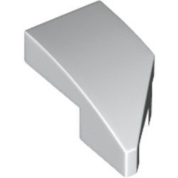 White Wedge 2 x 1 with Stud Notch Left - new