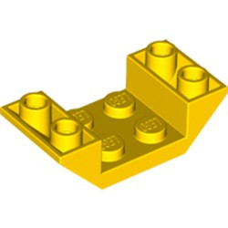 Yellow Slope, Inverted 45 4 x 2 Double with 2 x 2 Cutout - new
