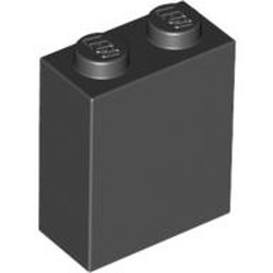 Black Brick 1 x 2 x 2 with Inside Stud Holder - new