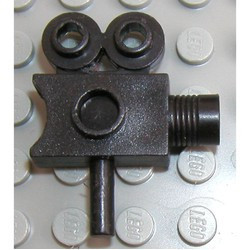 Black Minifigure, Utensil Camera Movie Style - used