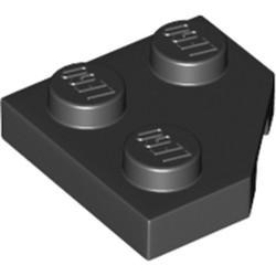 Black Wedge, Plate 2 x 2 Cut Corner - new