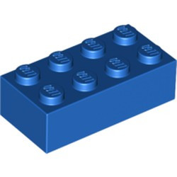 Blue Brick 2 x 4 - new