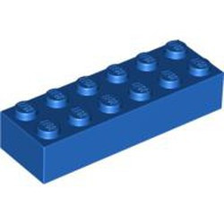 Blue Brick 2 x 6 - used