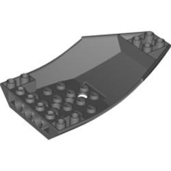 Dark Bluish Gray Cockpit 10 x 6 x 2 Curved - new