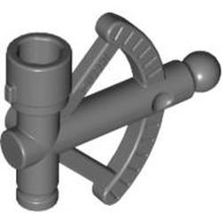 Dark Bluish Gray Minifigure, Utensil Sextant / Quadrant - used
