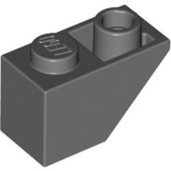 Dark Bluish Gray Slope, Inverted 45 2 x 1 - used