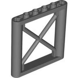 Dark Bluish Gray Support 1 x 6 x 5 Girder Rectangular - used