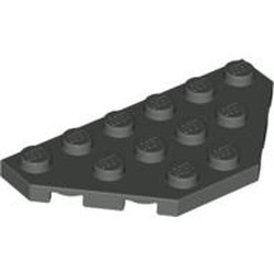 Dark Gray Wedge, Plate 3 x 6 Cut Corners - used