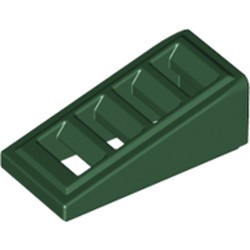 Dark Green Slope 18 2 x 1 x 2/3 with 4 Slots - new