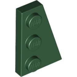 Dark Green Wedge, Plate 3 x 2 Right - new