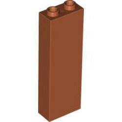 Dark Orange Brick 1 x 2 x 5 - Blocked Open Studs or Hollow Studs - used