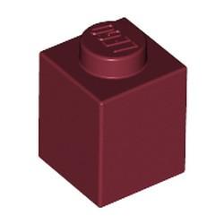 Dark Red Brick 1 x 1 - used