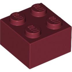 Dark Red Brick 2 x 2 - used