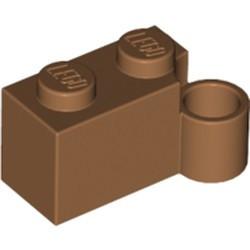 Medium Nougat Hinge Brick 1 x 4 Swivel Base - new