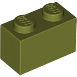 Olive Green Brick 1 x 2 - new