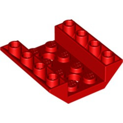 Red Slope, Inverted 45 4 x 4 Double with 2 Holes - used