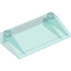 Trans-Light Blue Slope 33 3 x 6 without Inner Walls - new