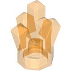 Trans-Orange Rock 1 x 1 Crystal 5 Point - new