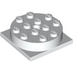 White Turntable 4 x 4 Square Base with Same Color Turntable 4 x 4 Top (3403 / 3404) - used