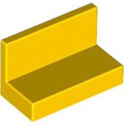 Yellow Panel 1 x 2 x 1 with Rounded Corners - used