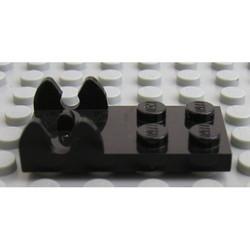 Black Hinge Plate 2 x 4 - Female (Digger Bucket Holder) - used