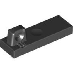 Black Hinge Tile 1 x 3 Locking with 1 Finger on Top - new