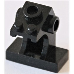 Black Minifigure, Utensil Control Panel - used
