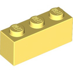 Bright Light Yellow Brick 1 x 3 - new