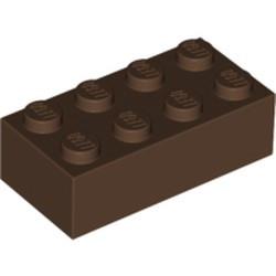 Brown Brick 2 x 4 - used