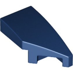 Dark Blue Wedge 2 x 1 with Stud Notch Right - new