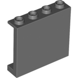Dark Bluish Gray Panel 1 x 4 x 3 with Side Supports - Hollow Studs - new