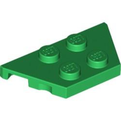 Green Wedge, Plate 2 x 4 - new
