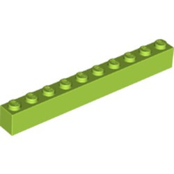 Lime Brick 1 x 10 - new