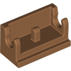 Medium Nougat Hinge Brick 1 x 2 Base - new