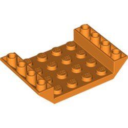 Orange Slope, Inverted 45 6 x 4 Double with 4 x 4 Cutout and 3 Holes - new