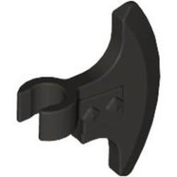 Pearl Dark Gray Minifigure, Weapon Axe Head, Clip-on - used