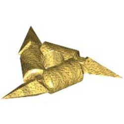 Pearl Gold Minifigure, Weapon Throwing Star (Shuriken) - used with Smooth Grips