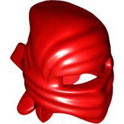 Red Minifigure, Headgear Ninja Wrap