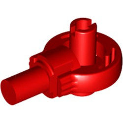 Red Technic, Rotation Joint Ball Loop with Two Perpendicular Pins with Friction - used