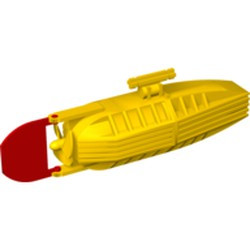 Yellow Electric, Motor with Boat Propeller and Rudder 14 x 4 x 4, 3-Blade Propeller - used