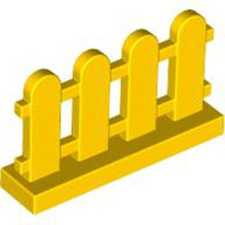 Yellow Fence 1 x 4 x 2 Paled (Picket)