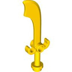 Yellow Minifigure, Weapon Sword, Scimitar - used