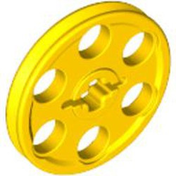Yellow Technic Wedge Belt Wheel (Pulley) - used